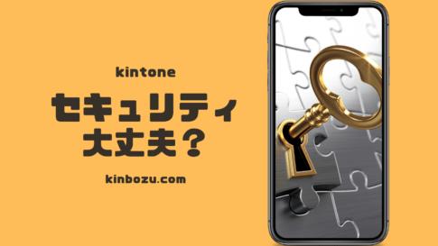 kintoneセキュリティ問題なし?