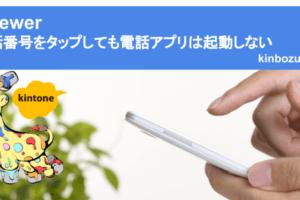 kviewer 電話番号をタップしても電話アプリは起動しない