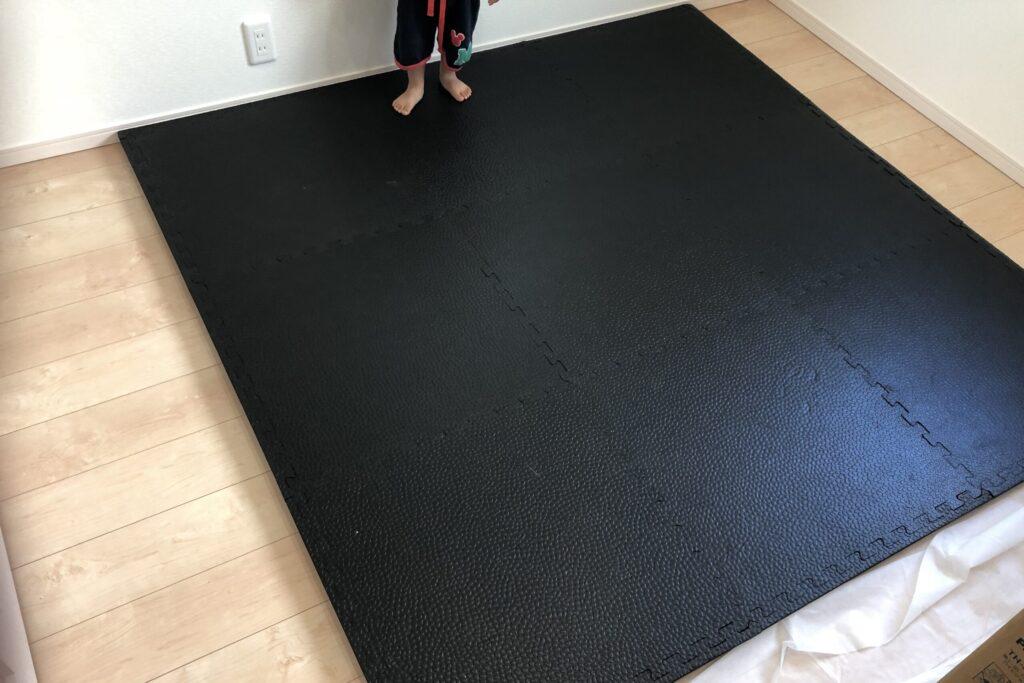 自宅トレーニング床 高硬度マットで沈み込み防止