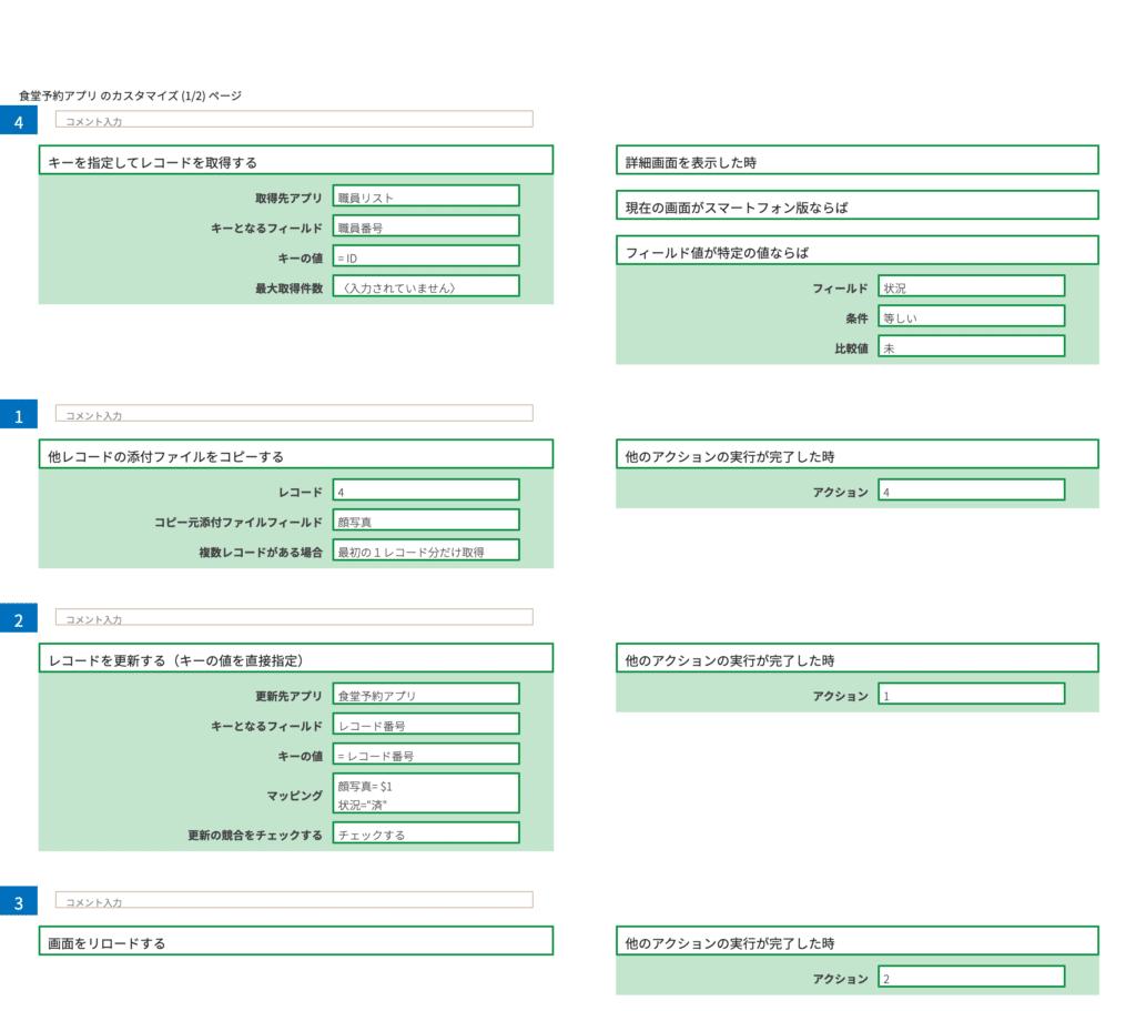 CustomineでQRコード読み込み時にチェックボックスの値変更