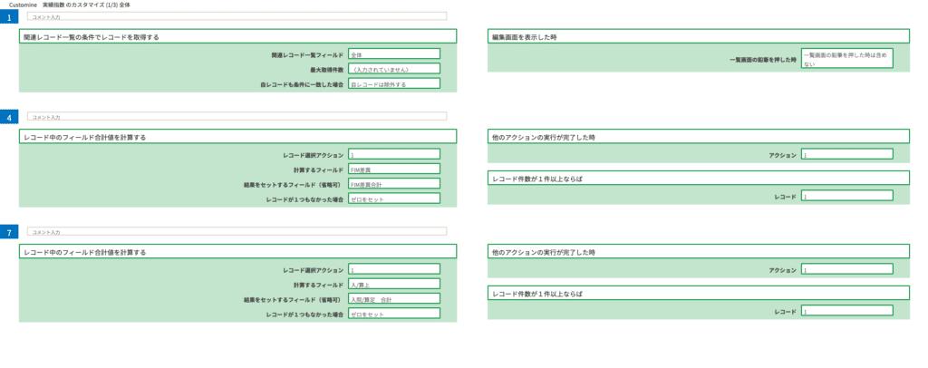 関連レコード合計Customineイメージ