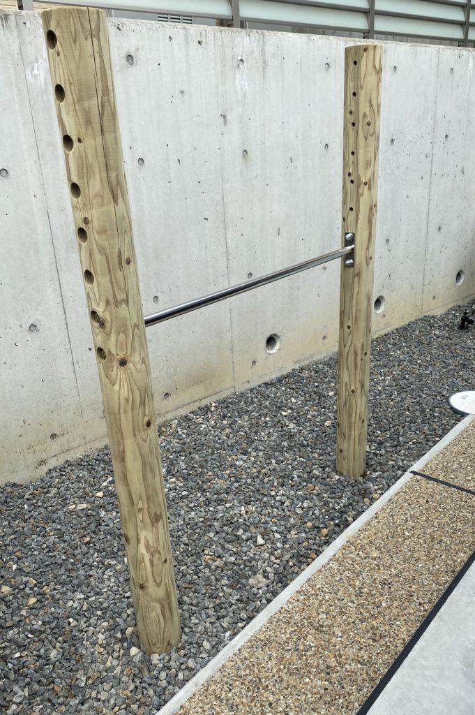 自宅庭に鉄棒を設置してみた