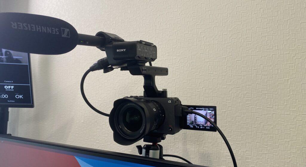 FX3 メインカメラとして設置