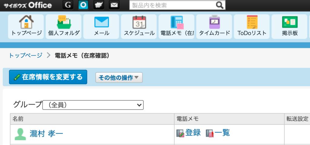 サイボウズOffice電話メモ