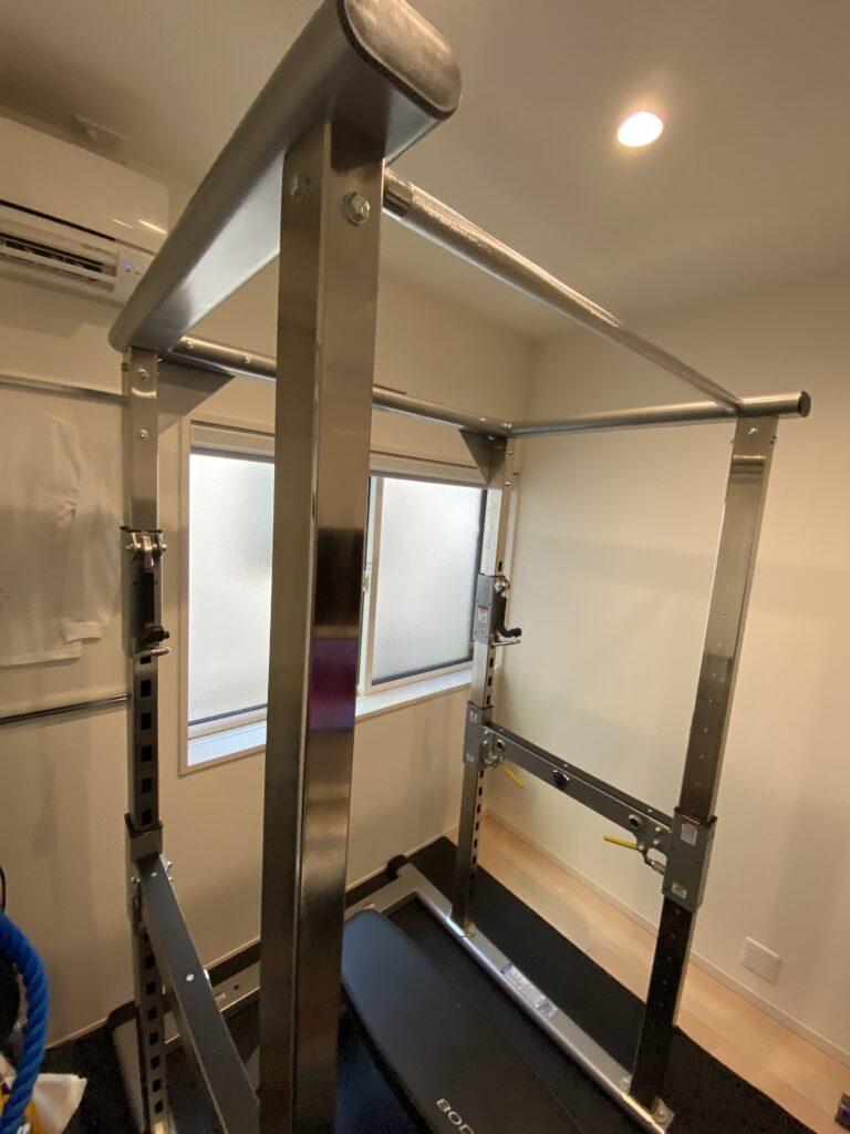 4.5畳に設置したタフスタッフパワーラック